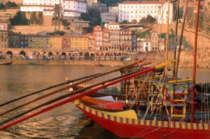 FOR TRAVEL -- Portugal -- Porto -- Rabelo boat at Douro river in Porto CREDIT: Joao Paulo