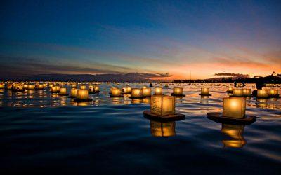 A Noite das Lanternas Flutuantes em Lisboa
